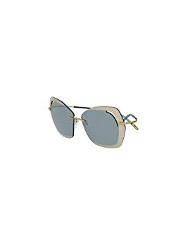 Sunglasses Silhouette PERRED SCHAAD 9910 LIGHT GREEN GOLD/GREY SILVER woman