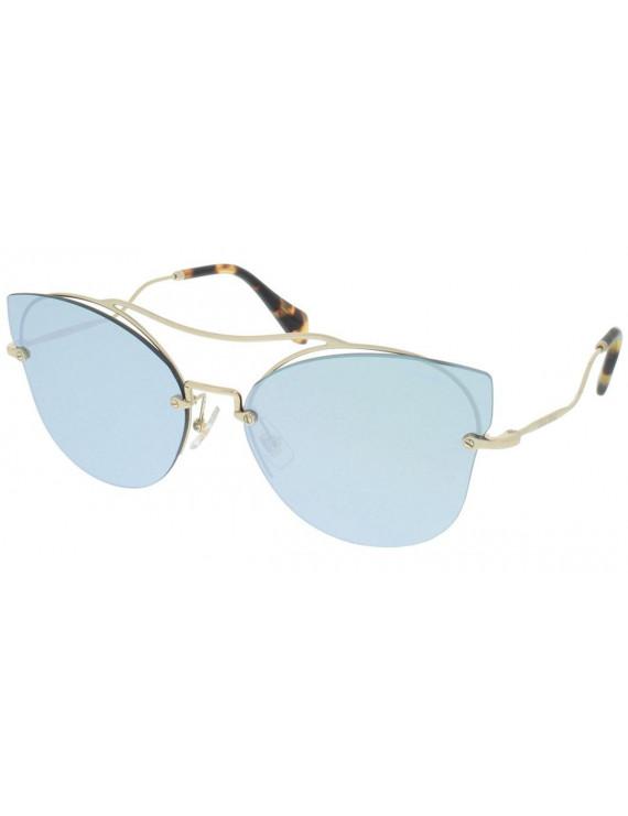 Occhiale da sole miu miu mod. 52ss col.zvn-5qo montat. metallo oro lenti argento