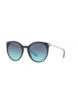 Sunglasses tiffany mod.4142 col.8001/9s cal.54 color black grey lenses sfum. the temples with rhinestones