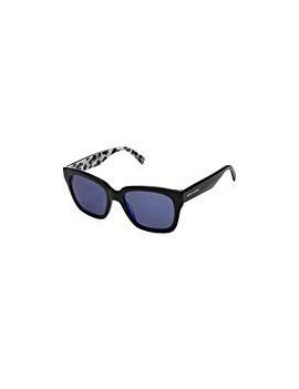 Occhiale da sole marc jacobs mod.229/s col.e5kxt7sp colore nero/blu brillantinato lenti specchiate blu