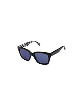 Sunglasses marc jacobs mod.229/s col.e5kxt7sp color black/blue diamond mirror lens blue