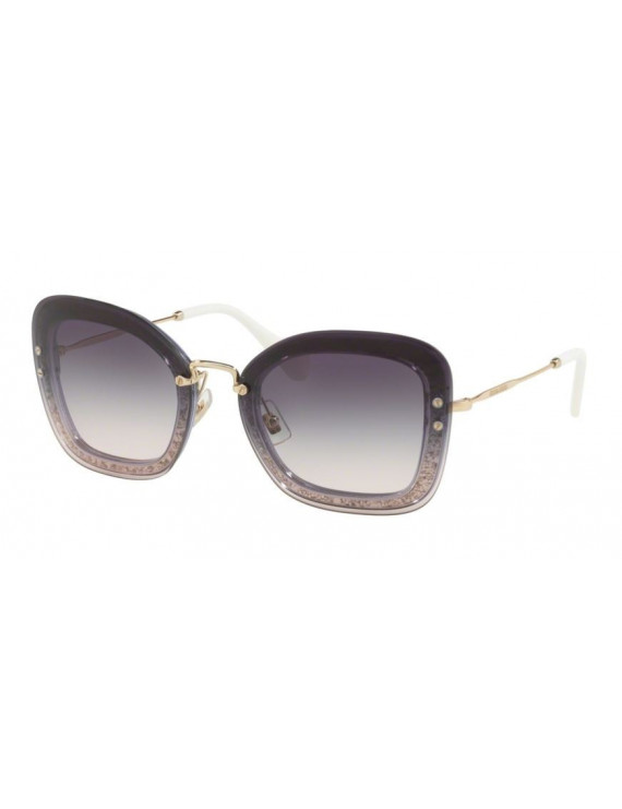 Sunglasses for woman miu miu mod.02t col.86lnj0 purple with glitter lens purple gradient