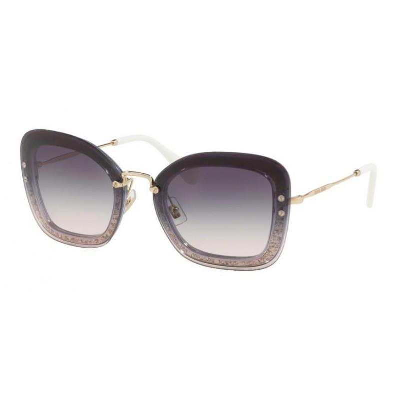 2ced4348e317 Sunglasses for woman miu miu mod.02t col.86lnj0 purple with glitter lens  purple gradient